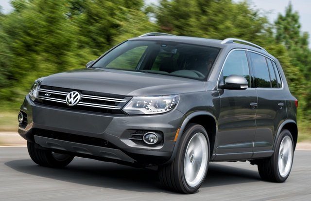 2015 Volkswagen Tiguan, Front-quarter view, exterior, manufacturer