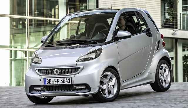 2015 smart fortwo, Front-quarter view, exterior, manufacturer