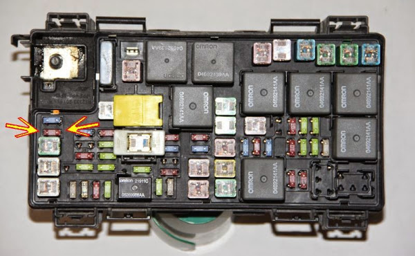 Dodge Caliber 2010 Fuse Box