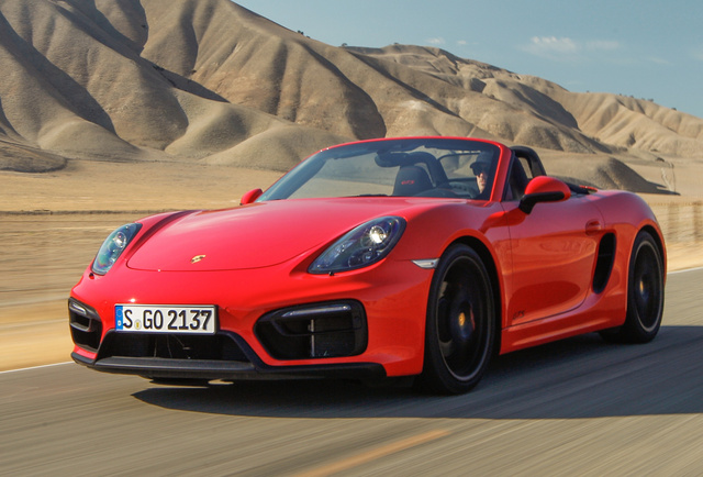 2015 Porsche Boxster, Front-quarter view, exterior, manufacturer, gallery_worthy