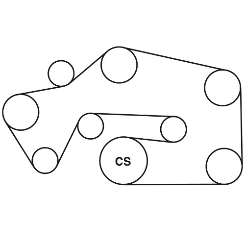 pontiac serpentine belt diagram
