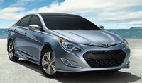 2015 Hyundai Sonata Hybrid, Front-quarter view, exterior, manufacturer