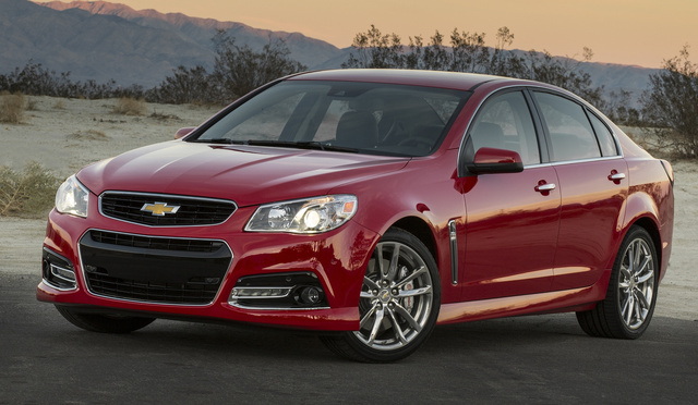 2015 Chevrolet SS, Front-quarter view. Copyright General Motors, exterior, manufacturer