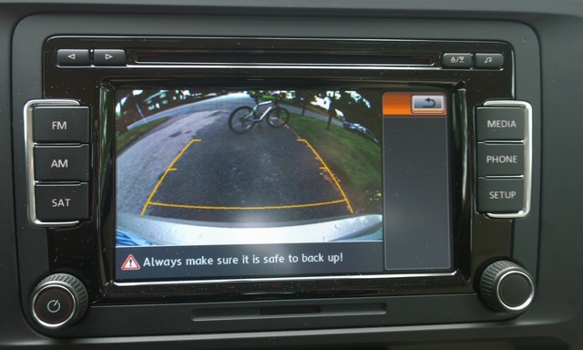 2015 Volkswagen Jetta, Rear-view camera monitor, interior, gallery_worthy