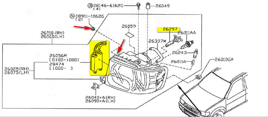 infiniti qx4 questions replace low beam light on 2001 infiniti qx4 rh cargurus com 4 Channel Amp Wiring Diagram Infiniti G35 Radio Wiring Diagram