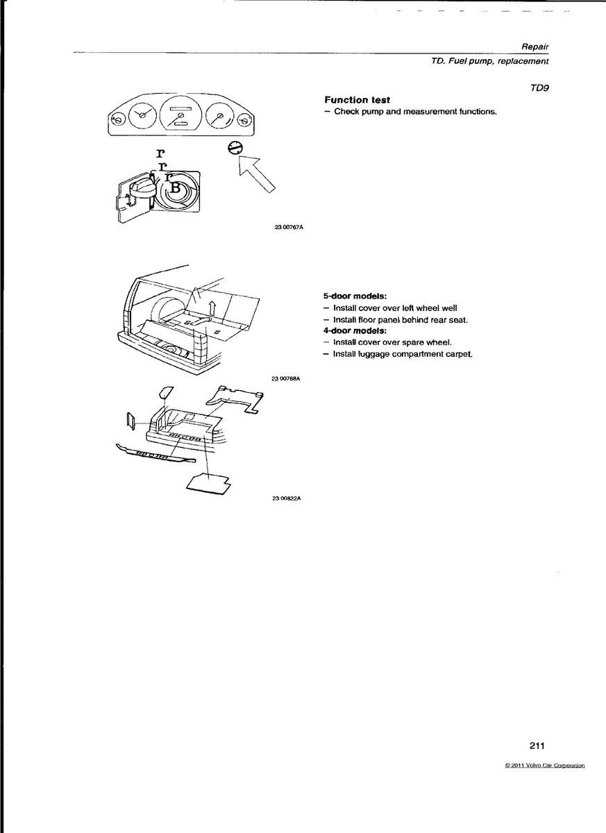 Volvo S90 Questions Fuel Pump Location Cargurus 1998 Fuse Box Mark Helpful