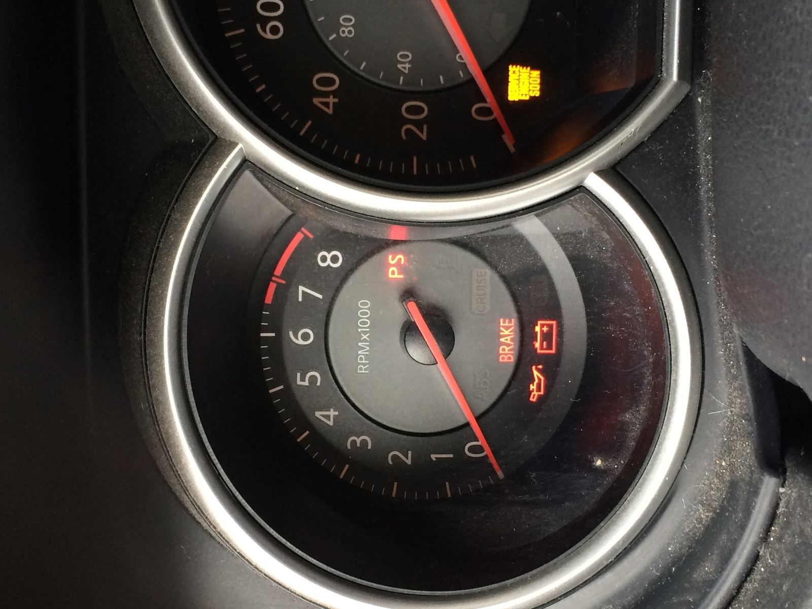Nissan Versa - Car stopped at red light - suddenly freezes up, lights come  on, can't accelerate.