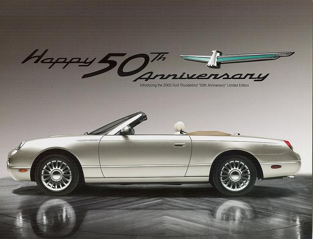 2005 ford thunderbird 50th anniversary model