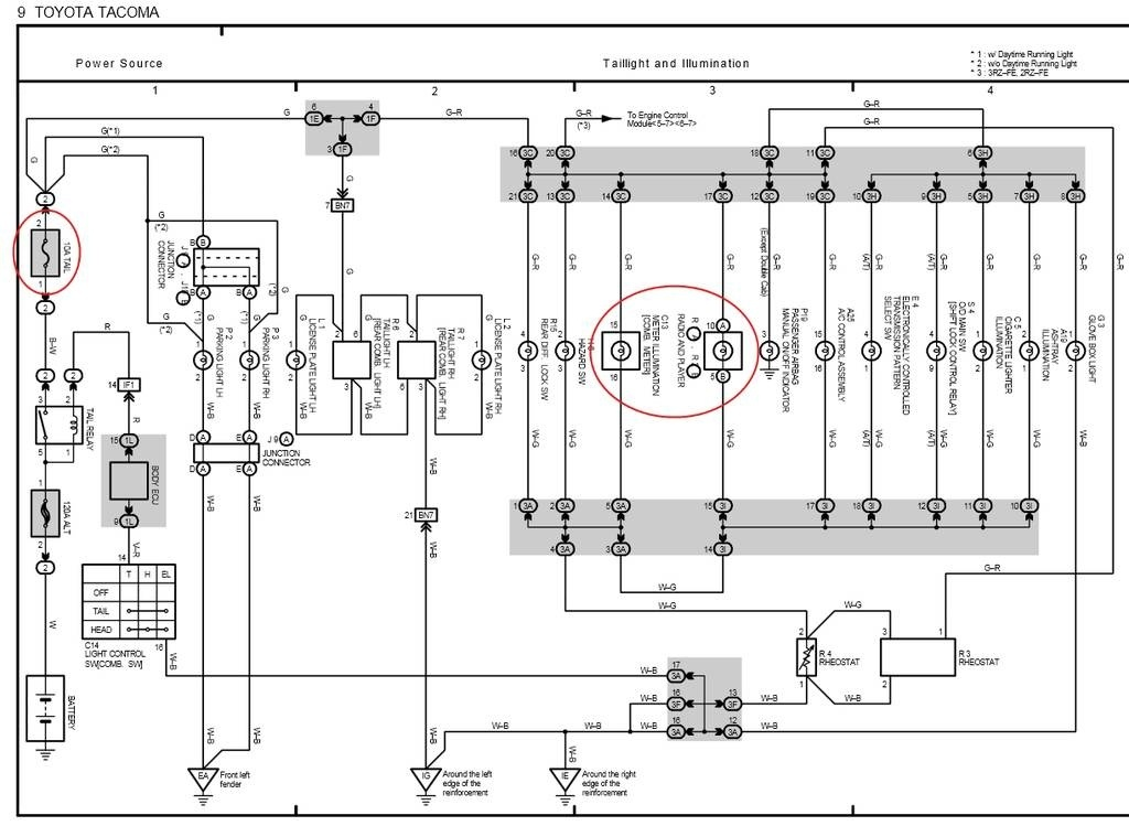 1996 toyota tocoma pick up fuse diagram wiring diagram schematics