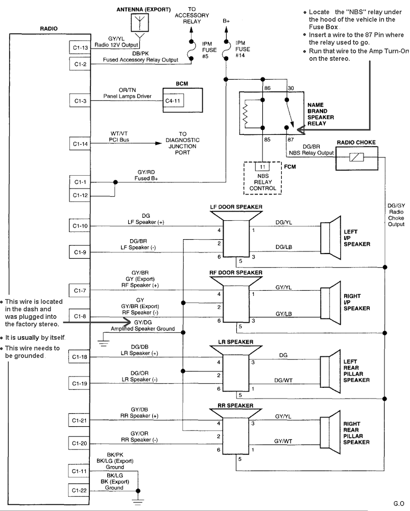2003 dodge infinity amplifier wiring diagram   44 wiring