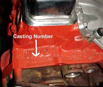 Pic X on Ford Engine Casting Numbers