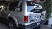 2005 Ford Excursion XLT, rear, exterior