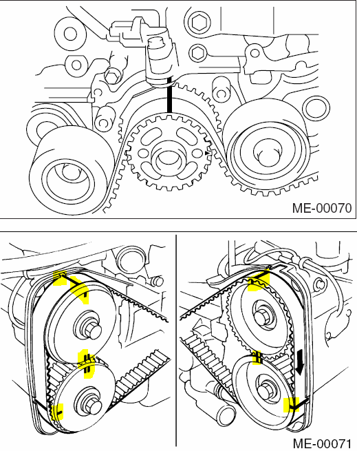 Subaru impreza timing belt or chain