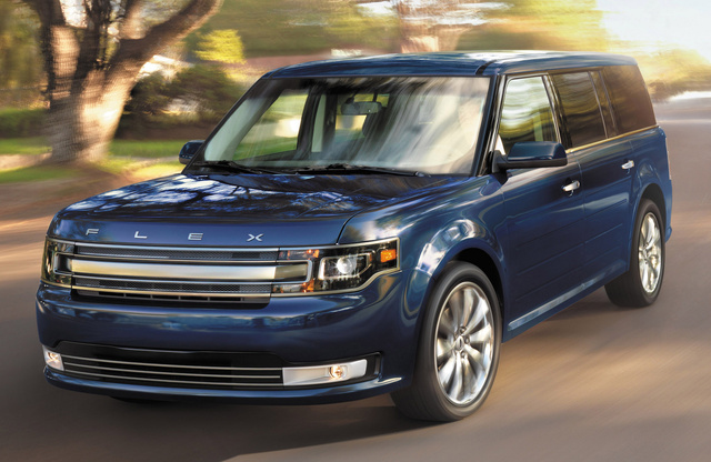 2015 Ford Flex, Front-quarter view, exterior