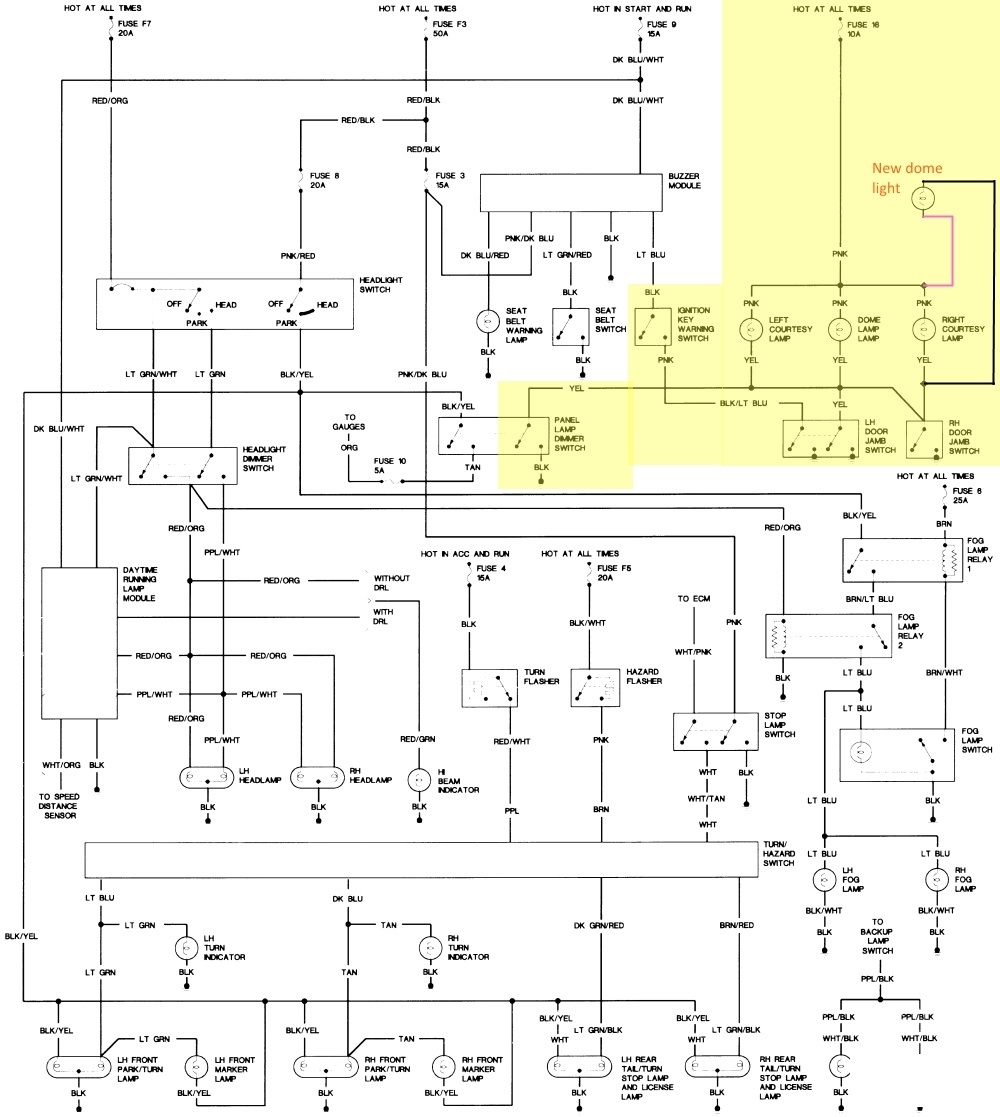 2005 jeep wrangler wiring schematic: Jeep wrangler questions dome light on door jamb working