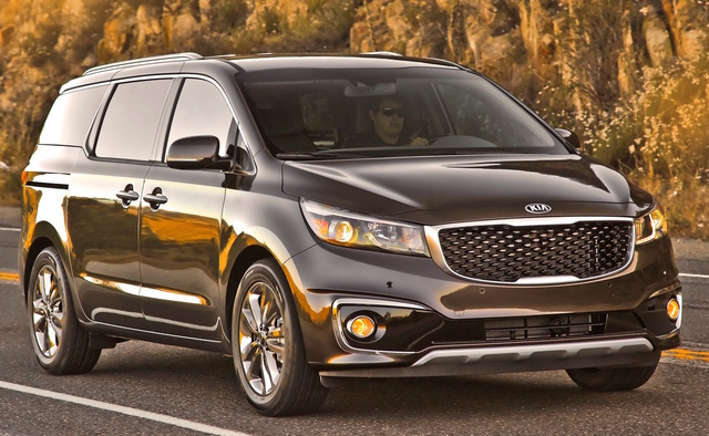 2015 Kia Sedona, Front-quarter view, exterior, manufacturer, gallery_worthy
