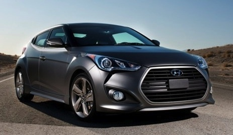2015 Hyundai Veloster Turbo, Front-quarter view, exterior, manufacturer