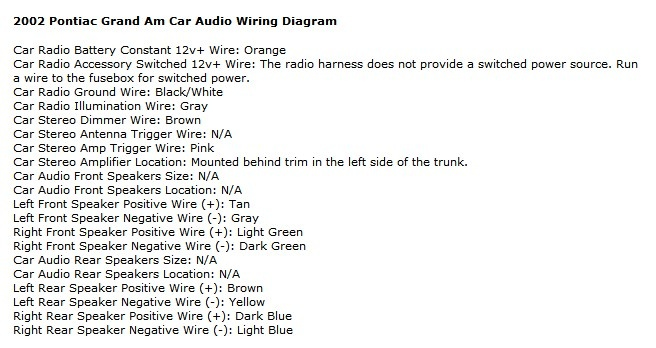 2002 pontiac grand prix radio wiring diagram 2002 2004 pontiac grand am wiring diagram 2004 image on 2002 pontiac grand prix radio