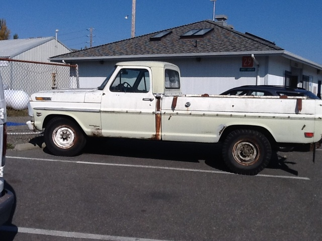 1969 Ford F-250, Heavy duty shocks ready for your camper. Air conditioner, two gas tanks and trailer hitch., exterior, gallery_worthy