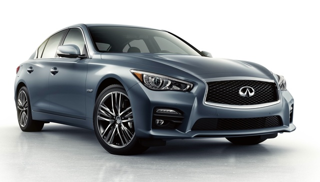2015 INFINITI Q50 Hybrid, Front-quarter view, exterior, manufacturer, gallery_worthy