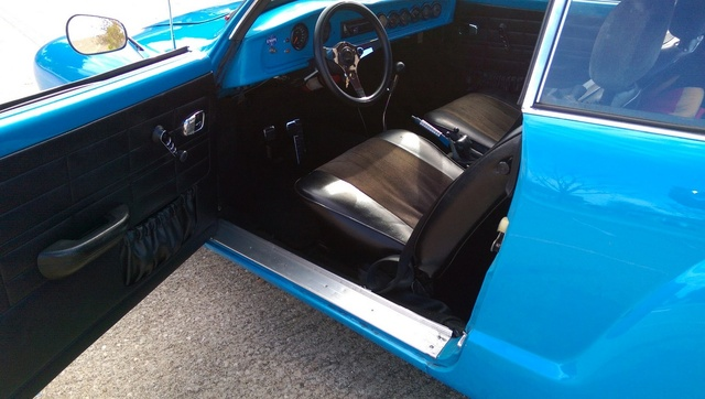 1969 Volkswagen Karmann Ghia, Baby Blue's new interior, interior, gallery_worthy