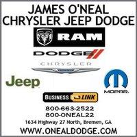 James O'Neal Chrysler Dodge Jeep Ram logo