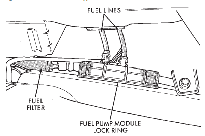 2009 Dodge Journey Fuel Filter Location