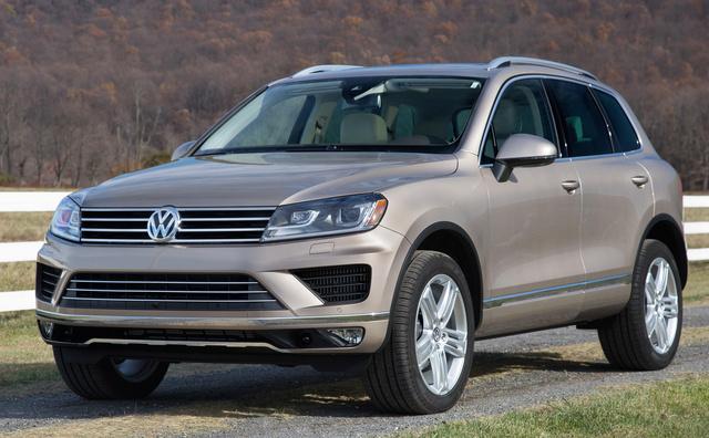 2015 Volkswagen Touareg, Front-quarter view, exterior, manufacturer, gallery_worthy