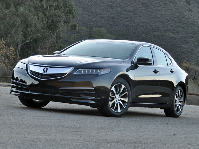 2015 Acura TLX Base w/ Tech Pkg, 2015 Acura TLX 2.4 Crystal Black Metallic, exterior