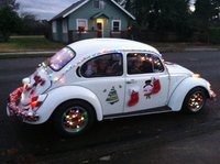 1972 Volkswagen Beetle, decorated for Xmas parade - winter 2014, exterior