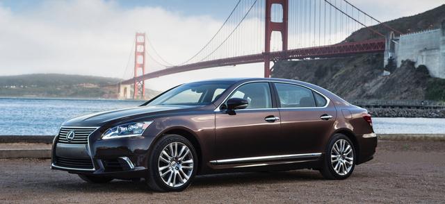 2015 Lexus LS 600h L, Front-quarter view, exterior, manufacturer, gallery_worthy