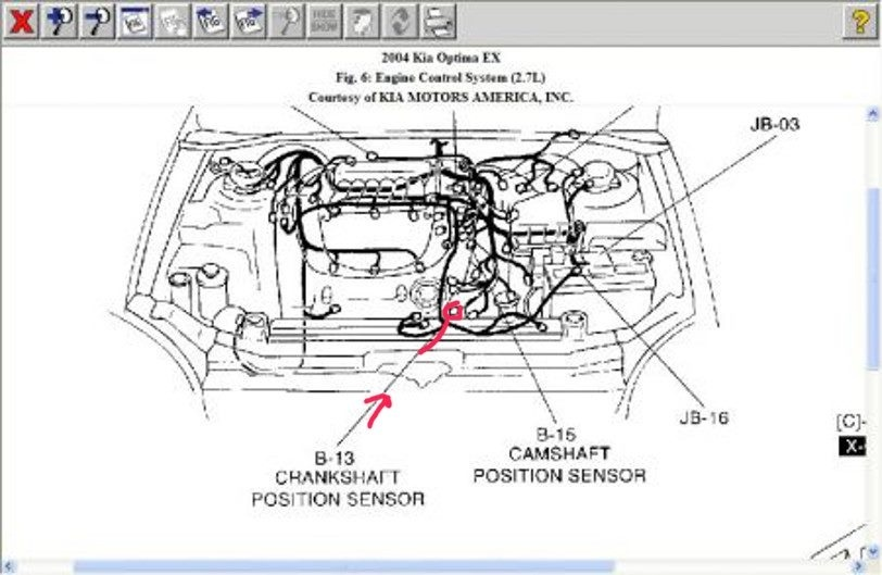 kia optima questions - where is the crank shaft position sensor located on a kia optima
