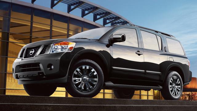 2015 Nissan Armada, Front-quarter view, exterior, manufacturer