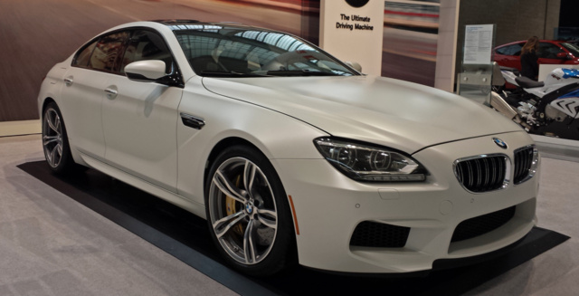 2015 BMW M6, Front-quarter view, exterior