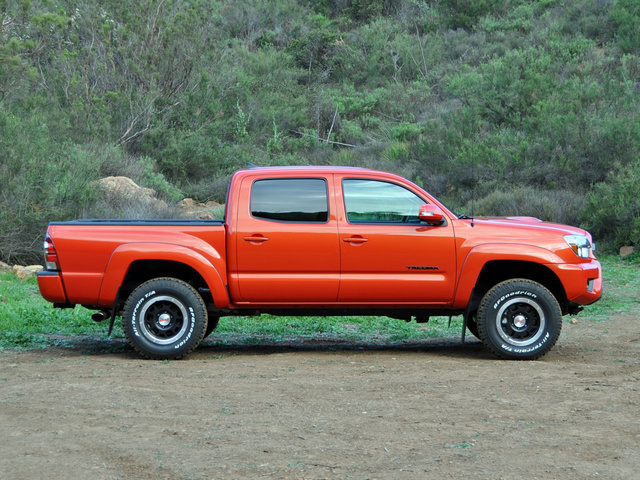 2015 Toyota Tacoma Double Cab V6 TRD Pro, 2015 Toyota Tacoma TRD Pro Double Cab Inferno Orange, exterior, gallery_worthy