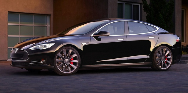 2015 Tesla Model S, Front-quarter view, exterior, manufacturer