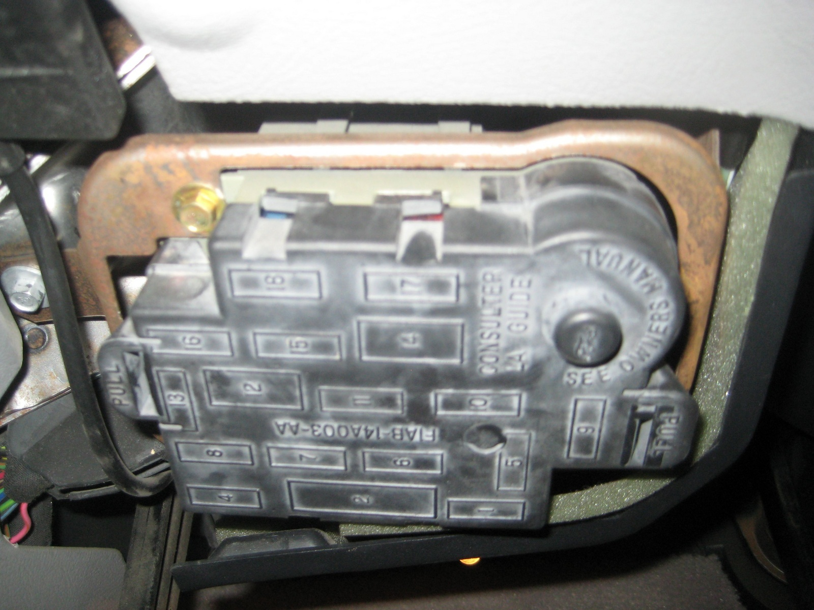 mercury grand marquis questions how do i open the inside fuse box 1996 Mercury Marquis Fuse Box 6 answers