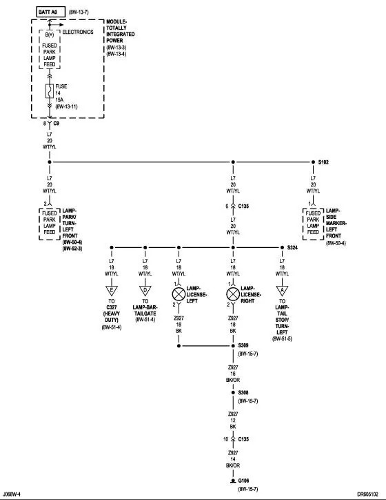 2001 Dodge Ram 1500 Wiring Schematic - Electrical Drawing Wiring ...