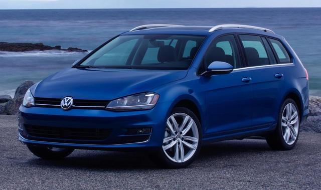 2015 Volkswagen Golf SportWagen, Front-quarter view, exterior, manufacturer