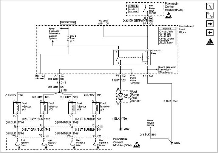 2002 s10 fuel pump fuse