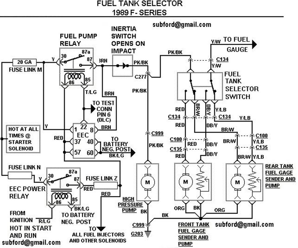 ford fuel pump relay fuse on 93 f150 fuel pump wiring harness 1980 Ford Ranger 1989 ford ranger fuel pump wiring diagram bchvipiede