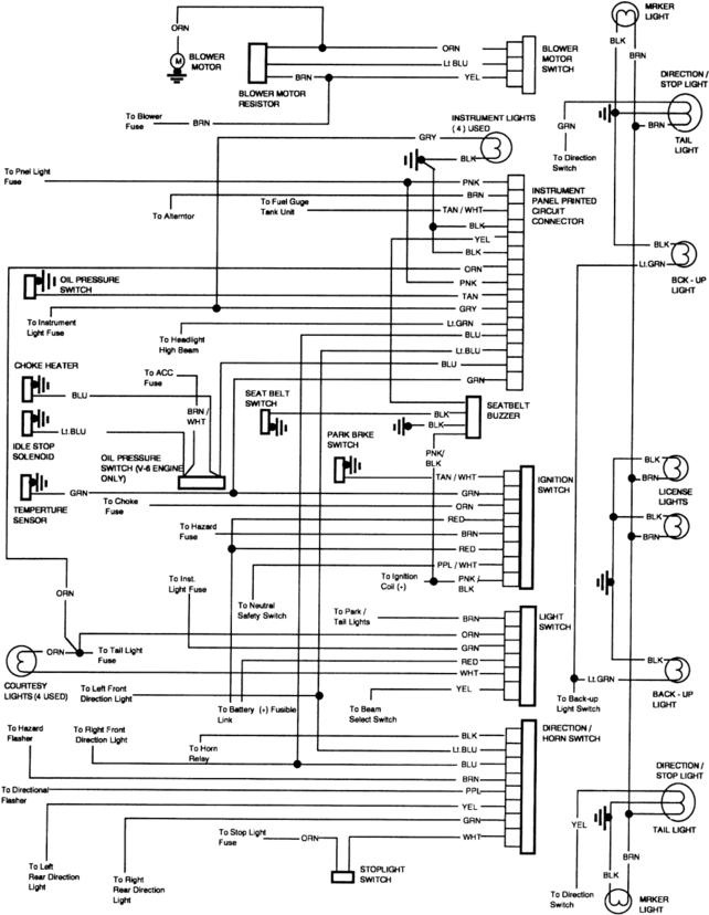 1986 Chevy Truck Fuse Box Connectors Wiring Diagram border=