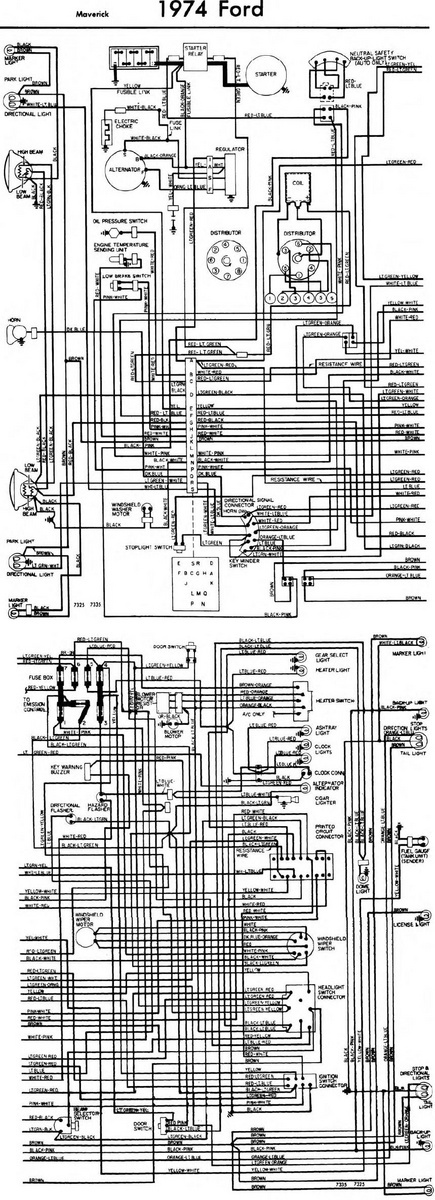 1973 ford maverick engine diagram ford maverick wiring diagram