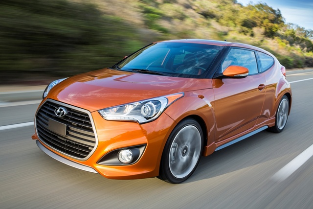 2016 Hyundai Veloster Turbo, Front-quarter view, exterior, manufacturer
