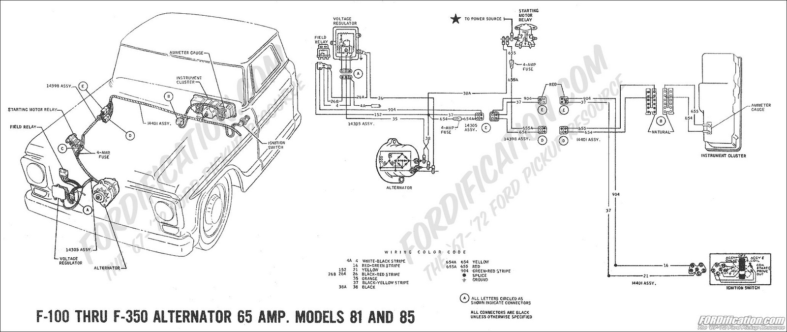 Alternator Wiring Diagram 1966 Ford Pu Diagrams Box Externally Regulated F 100 Questions I Have A 73 No Power To The S John Deere