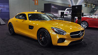 2016 Mercedes-Benz AMG GT, Front-quarter view from the 2015 New England International Auto Show, exterior