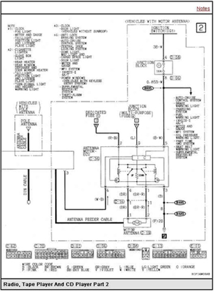 mitsubishi montero sport questions - need factory stereo wiring diagram