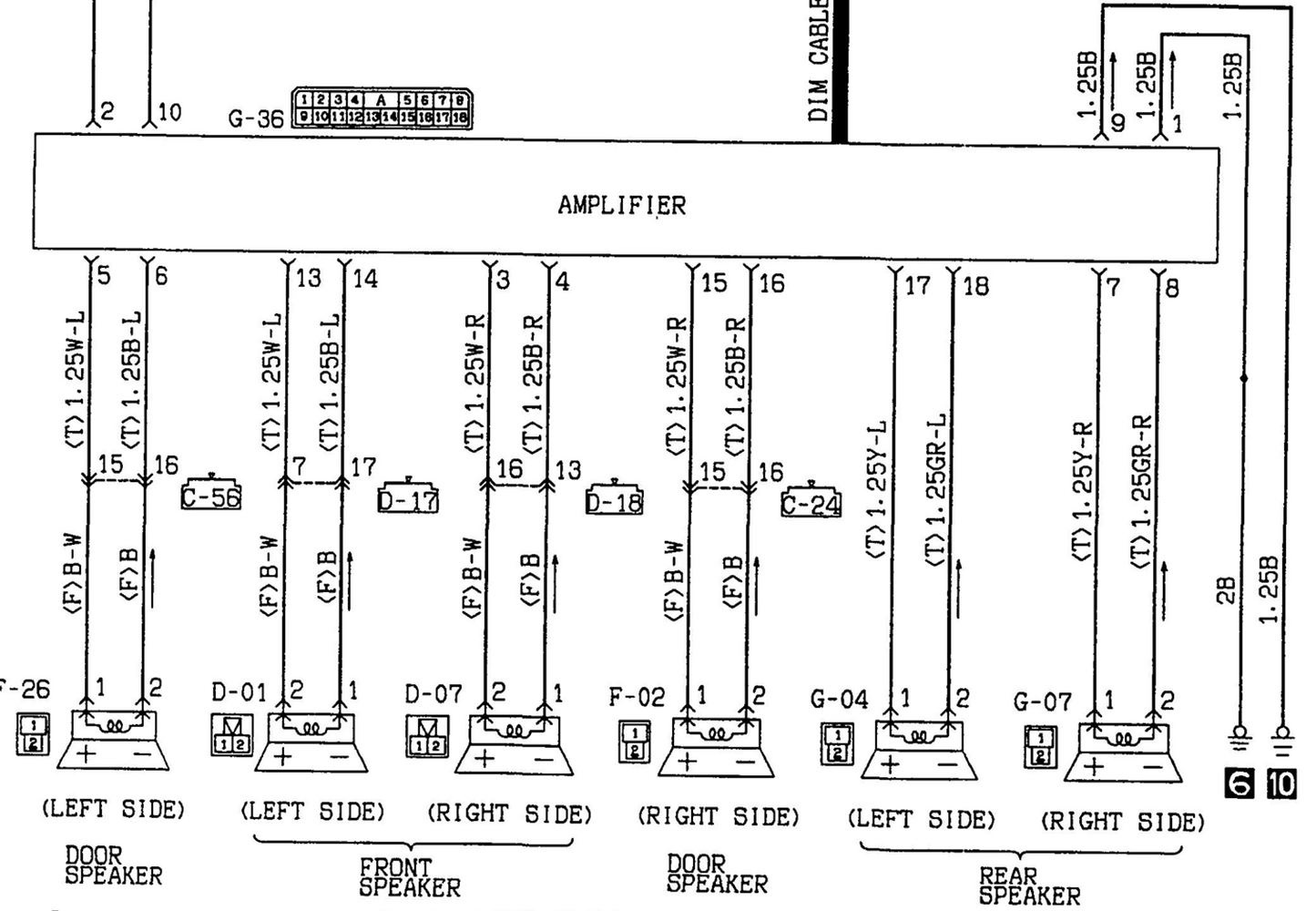 1996 mitsubishi mirage radio wiring diagram