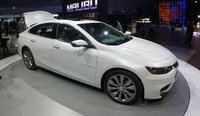 2016 Chevrolet Malibu, Front-quarter view at the New York Int'l Auto Show, exterior