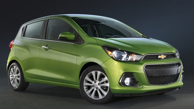 2016 Chevrolet Spark, Front-quarter view. Copyright General Motors, exterior, manufacturer